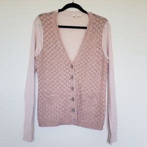 Anthro Moth blush cardigan xlarge cashmere blend